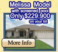 Melissa Model just $199,900 on your lot